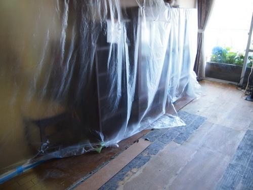 リビングの床修繕工事3