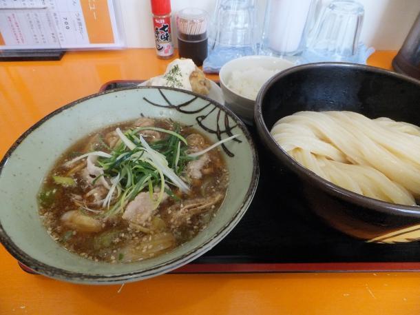 豚バラの肉汁つけ麺と小ごはんのセット