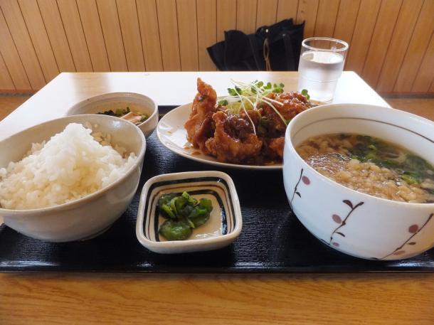 鶏カラの香味ソース定食