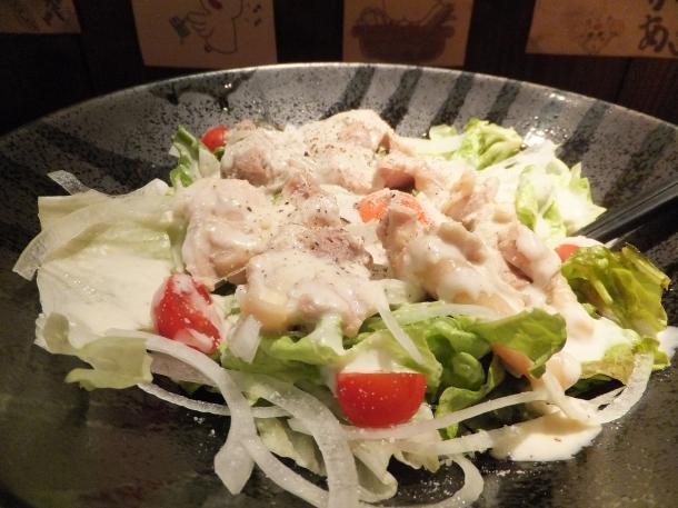 鶏ベーコンのサラダ