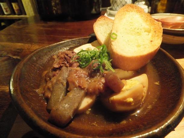 和牛すじ肉の赤味噌煮込み