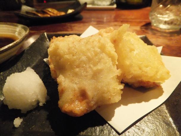 とろける胡麻豆腐の天ぷら