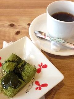 石亭 巳之助 コーヒー わらび餅