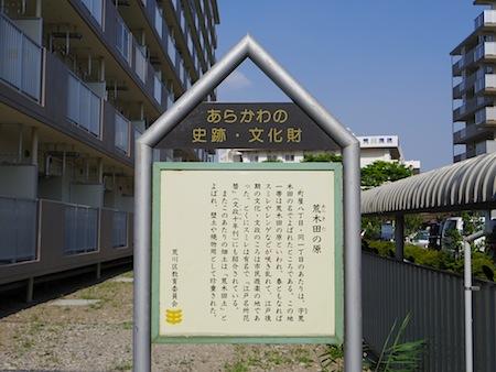 「荒木田の原」説明板
