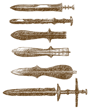 楽器用資料集・銅剣のスケッチ