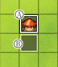 合戦アクション(長柄足軽・上下向き用)イベント配置