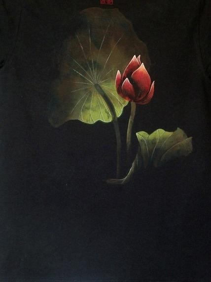 蓮 手描きTシャツ
