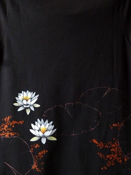手描きTシャツ 睡蓮