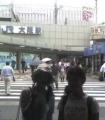 ゴールして大阪駅で