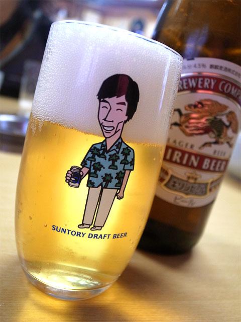 140209清香園-さんまとビール