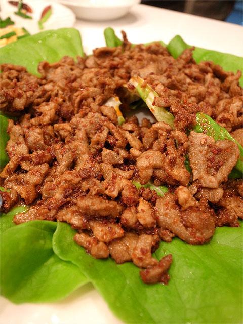 131211香膳-春餅・ラム肉のクミン炒め