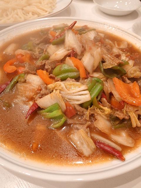 131211香膳-羊肉野菜炒め
