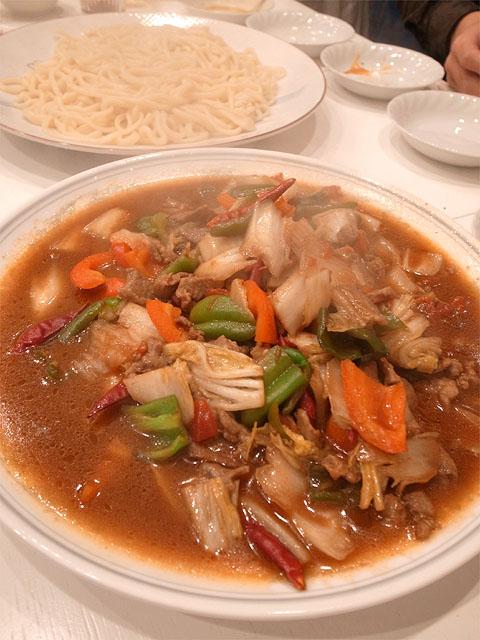 131211香膳-ラグマン羊肉野菜炒め