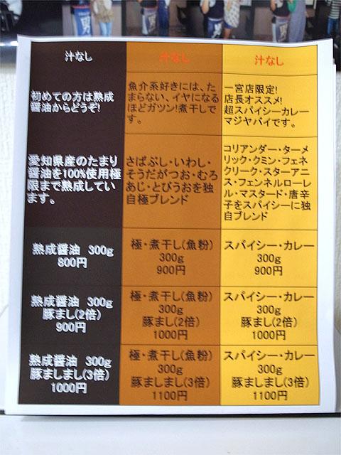 140610男前一宮-メニュー解説