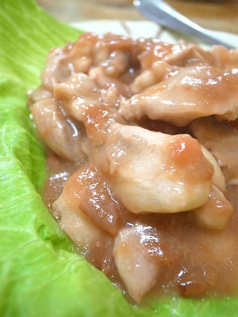 140602花杏-若鶏と梅干の蒸しアップ