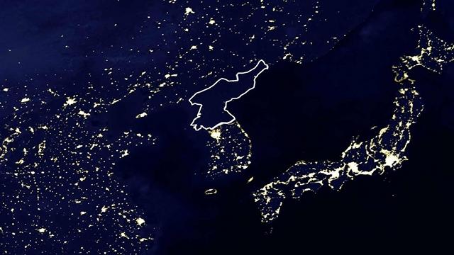 北朝鮮 夜光