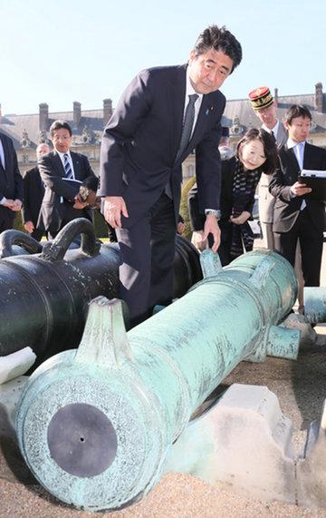 安倍総理 大砲