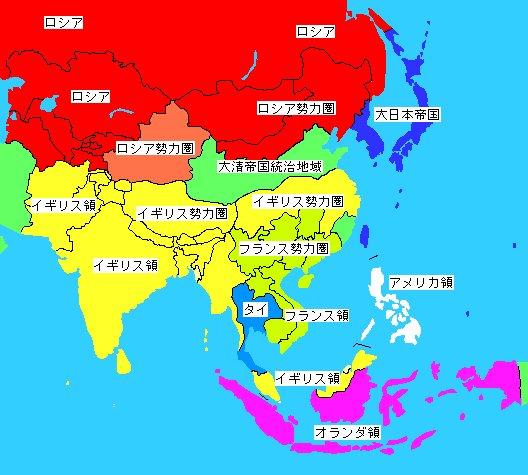 大東亜戦争直前の勢力図