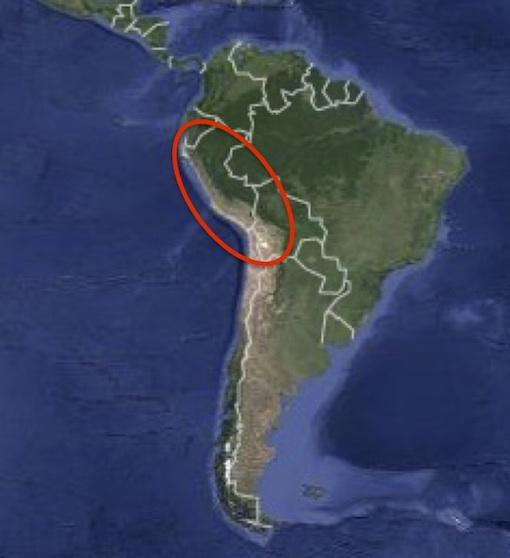 アンデス文明の範囲