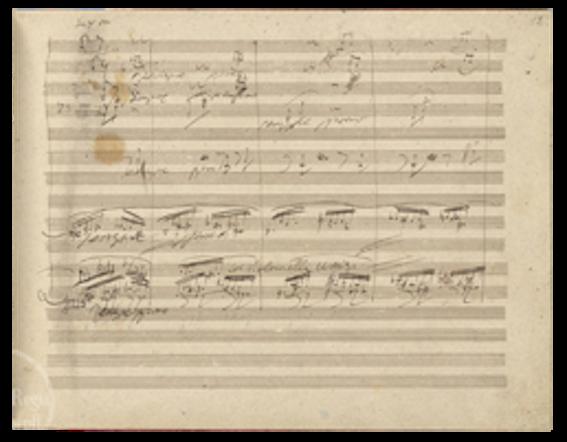ベートーヴェンの交響曲第9番 自筆譜