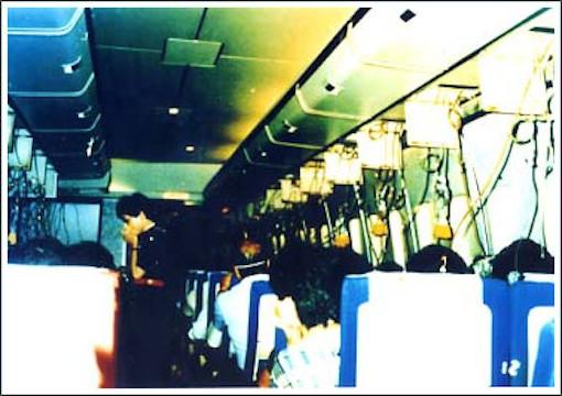 日航123便機内
