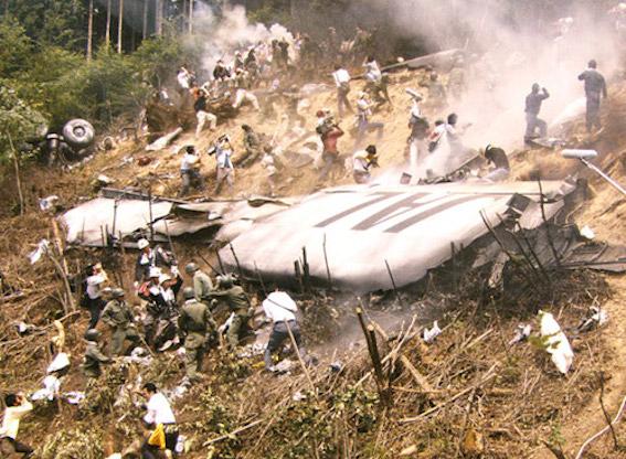 JAL123便残骸