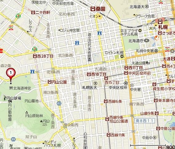 北海道神社地図