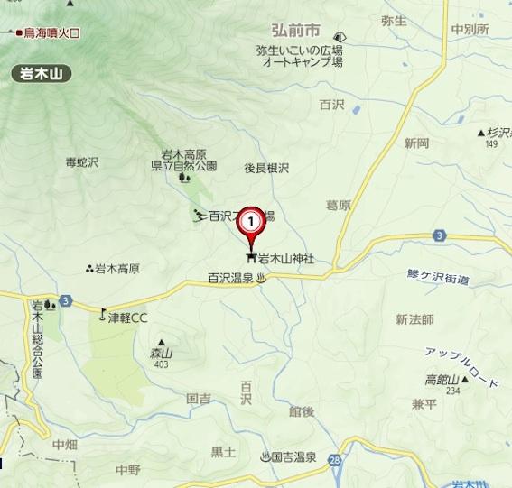 岩木山神社地図