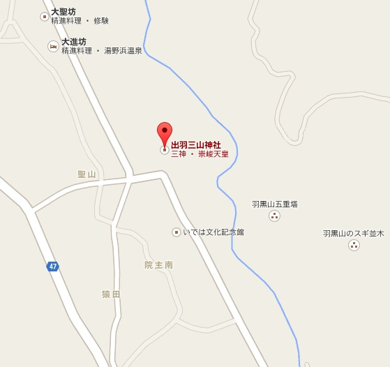 出羽三山神社地図