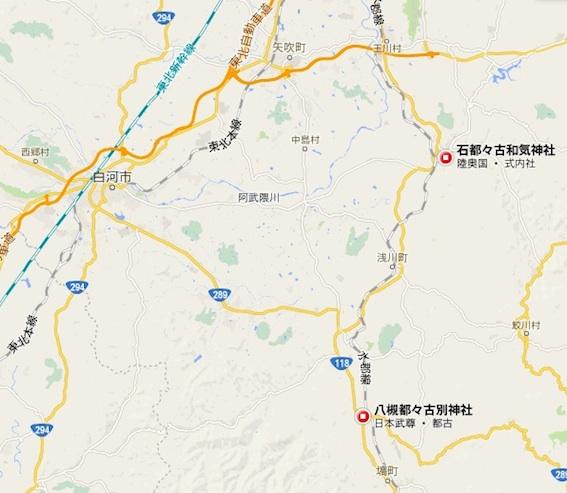 都々古別神社地図