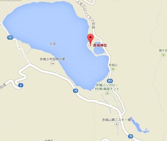 赤城神社地図