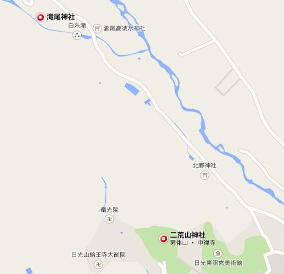 滝尾神社地図