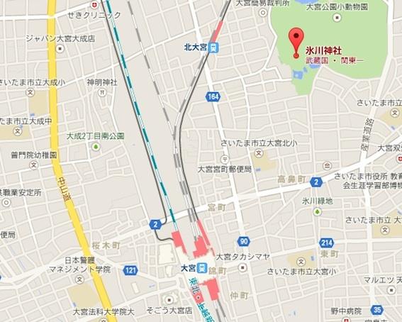 氷川神社地図