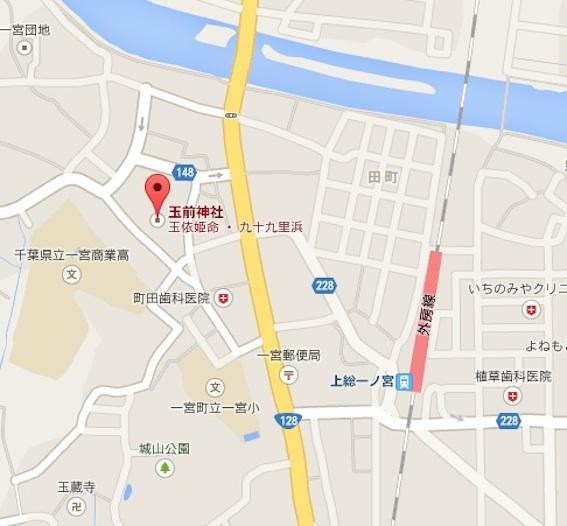 玉前神社地図