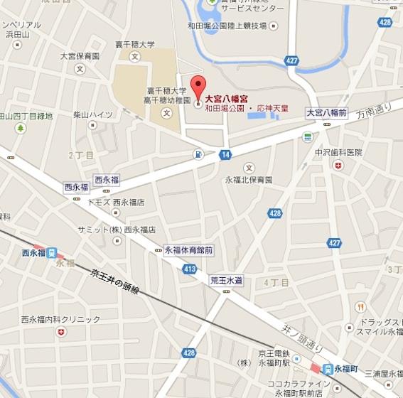 大宮八幡宮地図