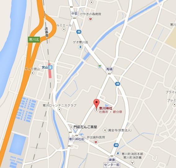 寒川神社地図