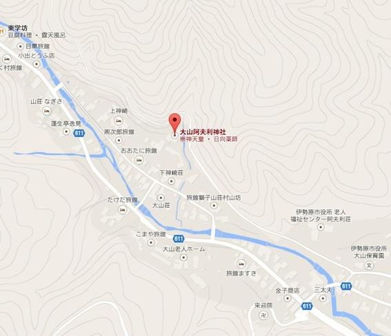 大山阿夫利神社地図