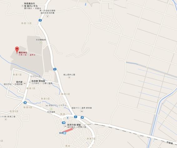 弥彦神社地図