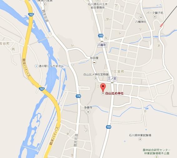 白山比咩神社地図