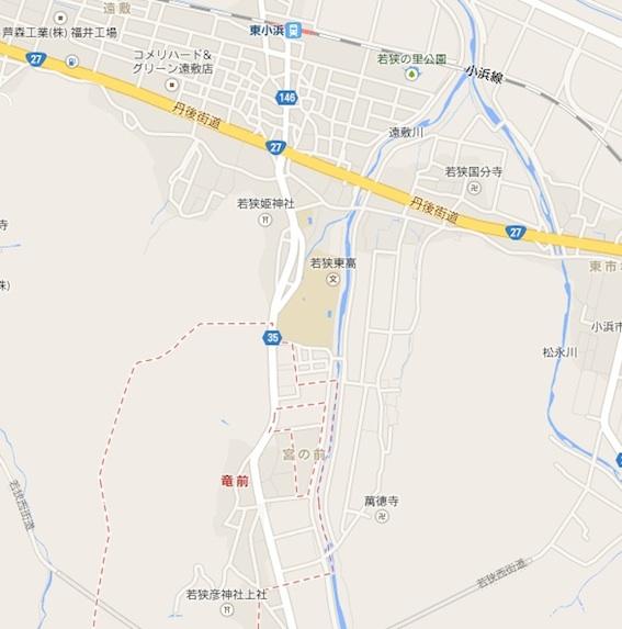 若狭彦神社地図