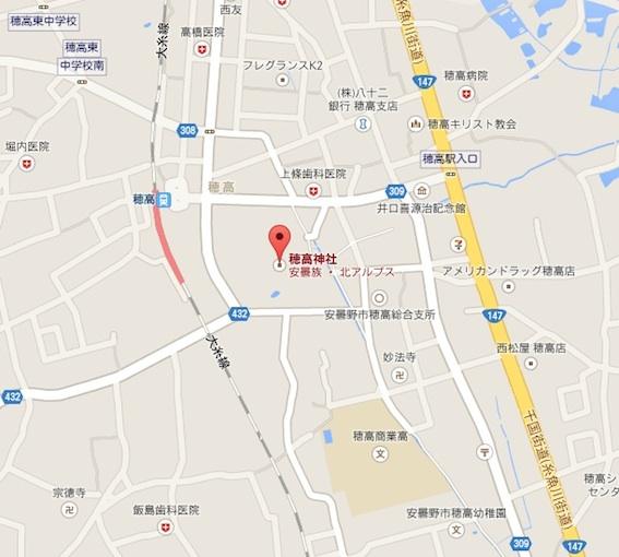 穂高神社地図