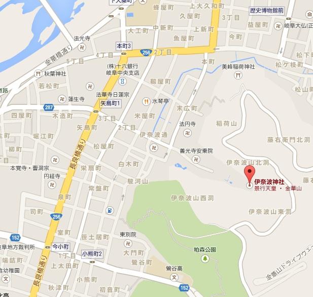 伊奈波神社地図