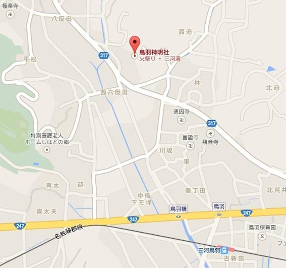 鳥羽神明社地図