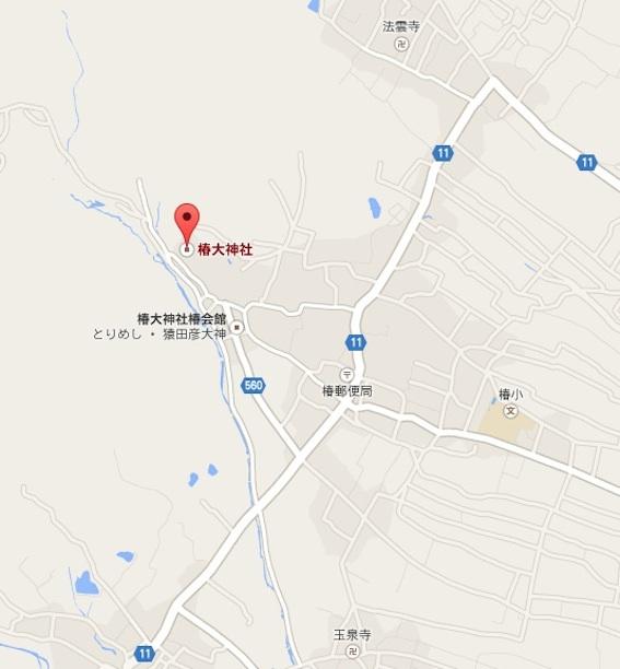 椿大神社地図
