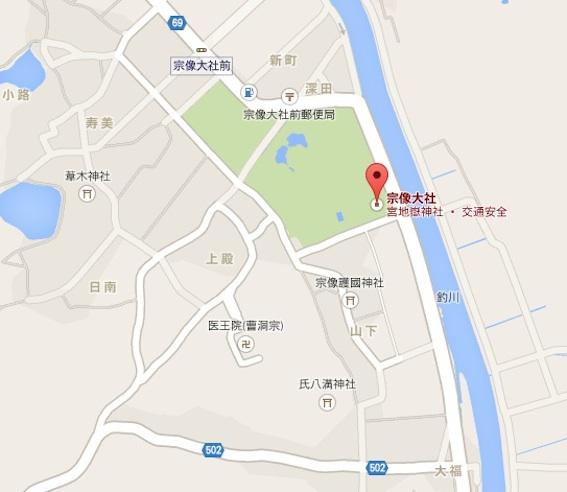 宗像大社地図