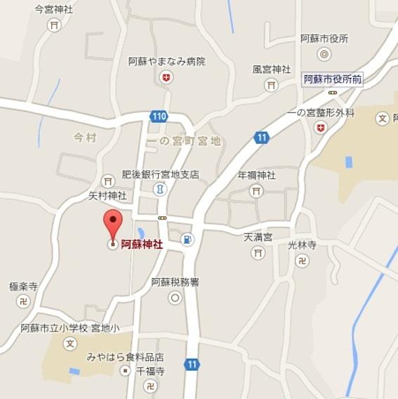 阿蘇神社地図