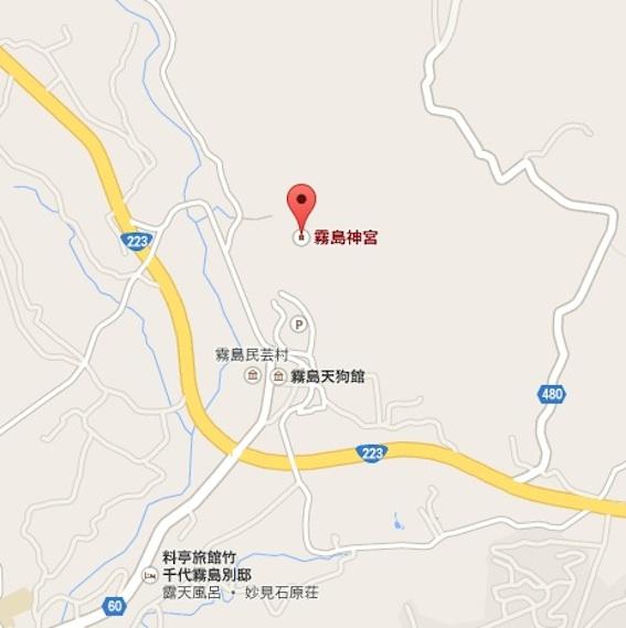 霧島神宮地図