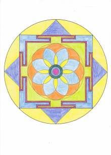 日日色色*カラーセラピストYukimiの色日記。-曼荼羅ぬり絵1s