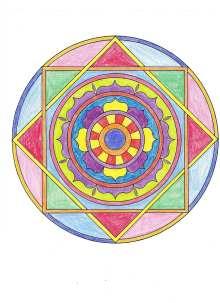 日日色色*カラーセラピストYukimiの色日記。-曼荼羅ぬり絵2s