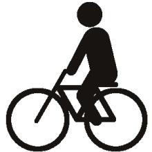 *日日色色*カラーセラピストYukimiの色模様。-ピクトグラム 自転車に乗る